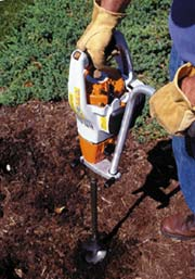 BT 45 Auger in Use
